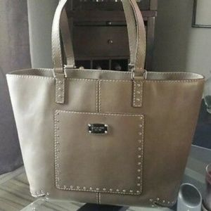 Authentic Michael Kors leather tote